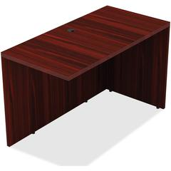 "Lorell Return - 24"" x 42"" x 29.5"" - Reeded Edge - Finish: Walnut Laminate, Mahogany"