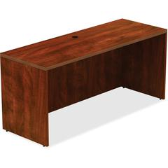 """Lorell Credenza - Top, 66"""" x 24"""" x 30"""" - Reeded Edge - Finish: Cherry Laminate Top"""