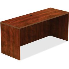 "Lorell Chateau Credenza - Top, 60"" x 24"" x 30"" - Reeded Edge - Finish: Cherry Laminate"