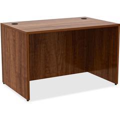 "Desk - 48"" x 30"" x 29.5"", Edge - Material: Metal, Polyvinyl Chloride (PVC) Edge - Finish: Walnut, Laminate"
