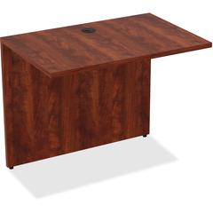 "Desk - 34"" x 24"" x 29.5"" Desk, Edge - Material: Polyvinyl Chloride (PVC) Edge, Metal - Finish: Cherry Laminate"