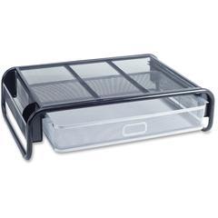 "Lorell Steel Monitor Stand - 4.6"" Height x 18.5"" Width x 14.5"" Depth - Desktop - Steel - Silver, Black"