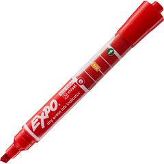 Sanford Expo Dry Erase Ink Indicator Marker - Chisel Marker Point Style - Red - 1 Each