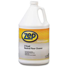 Zep Professional Z-Tread Neutral Floor Cleaner - 1 gal (128 fl oz) - Fresh Scent - 1 Each - Clear, Green