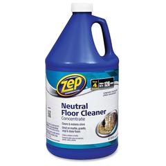 Neutral Floor Cleaner Concentrate - Concentrate Liquid Solution - 1 gal (128 fl oz) - 4 / Carton - Blue