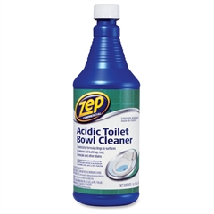 Acidic Toilet Bowl Cleaner - Liquid Solution - 0.25 gal (32 fl oz) - Fresh Minty Pine Scent - 1 Each - Blue