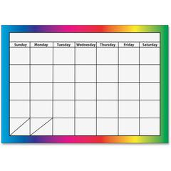 """Ashley 1-month Dry Erase Magnetic Calendar - Academic - Monthly, Weekly, Daily - 8 1/2"""" x 11"""" - Multicolor - Write on/Wipe off, Dry Erase Surface, Magnetic"""