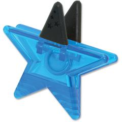Ashley Star Magnet Clip - for Artwork, Sign, Photo - Magnetic, Strong - 1Each - Blue
