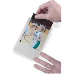 Ashley Photo/Index Card Pocket - Clear - Plastic