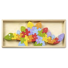 BeginAgain Toys Dinosaur A to Z Puzzle - Theme/Subject: Learning, Fun - Skill Learning: Problem Solving, Fine Motor, Story Telling, Uppercase Letters, Lowercase Letters - 26 Pieces