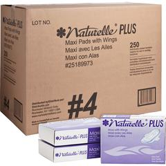 Impact Products Naturelle Plus Sanitary Napkins - Individually Wrapped, Anti-leak, Highly Absorbent, Comfortable - 250 / Carton - White