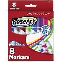 RoseArt Broadline Washable Markers - Assorted - 8 / Set