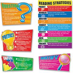 Carson-Dellosa Reading Strategies Bulletin Board Set - Theme/Subject: Learning - Skill Learning: Reading, Strategy - 8 Pieces - 5-11 Year
