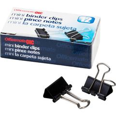 """OIC Binder Clips - Mini - 0.4"""" Width - 0.25"""" Size Capacity - Corrosion Resistant, Durable - 144 / Pack - Silver, Black"""