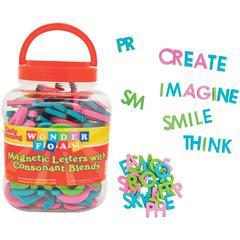 Pacon Wonderfoam Consonant Blends Magnetic Letters - Magnetic - Assorted - Foam - 104 / Set