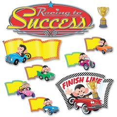 Trend Monkey Racing To Success Bulletin Board Set - 45 Piece