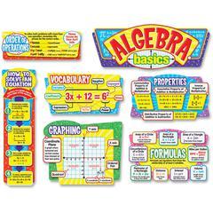 "Trend Algebra Basics Bulletin Board Set - Learning Theme/Subject x 25"" Width - 7 / Pack"