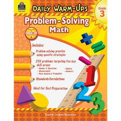 Daily Warm-Ups: Problem Solving Math Grade 3 Education Printed Book for Mathematics - Book - 176 Pages