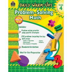 Teacher Created Resources Daily Warm-Ups: Problem Solving Math Grade 4 Education Printed Book for Mathematics - English - Book - 176 Pages