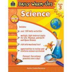 Teacher Created Resources Daily Warm-Ups: Science Grade 3 Education Printed Book for Science - Book - 176 Pages