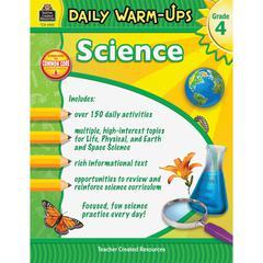 Teacher Created Resources Daily Warm-Ups: Science Grade 4 Education Printed Book for Science - Book - 176 Pages