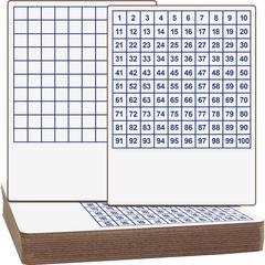 Flipside Hundreds Grid Board - White Surface - Blue Back - 12 / Set