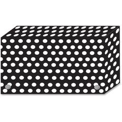 "Ashley Black/White Dots Design Index Card Holder - For Index Card 4"" x 6"" Sheet - Polka Dot Design - Multi - Polypropylene - 5 / Pack"