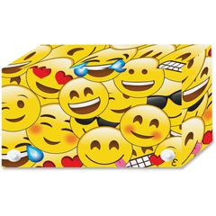 "Ashley Emoji Design Index Card Holder - For Index Card 4"" x 6"" Sheet - Emoji Design - Multi - Polypropylene - 5 / Pack"