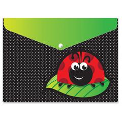 Ladybug Design Snap Poly Folders - Poly - Multi-colored - 6 / Pack