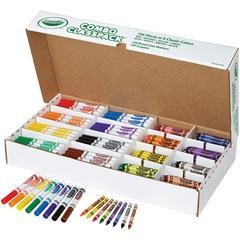 Crayola Crayons/Markers Combo Classpack - Assorted Ink - Assorted Wax - 256 / Box