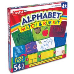 Roylco Alphabet Match and Rub Set - Theme/Subject: Learning - Skill Learning: Letter, Illustration - 54 Pieces - 4+