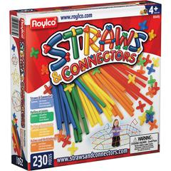 Roylco Straws & Connectors Building Set - 230 Piece(s) - 230 / Pack - Assorted