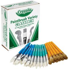 Crayola Paintbrush Variety Classpack - 36 Brush(es)
