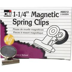 "CLI Magnetic Spring Clips - 1.3"" Length - 24 / Box"