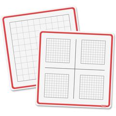 """Roylco Count To 100 Dry Erase Boards - 12.8"""" (1.1 ft) Width x 12.8"""" (1.1 ft) Height - Square - 24 / Pack"""