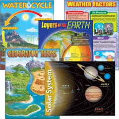 Trend Earth Science Learning Charts Combo Pack - Theme/Subject: Learning - Skill Learning: Science - 5 Pieces - 5-13 Year