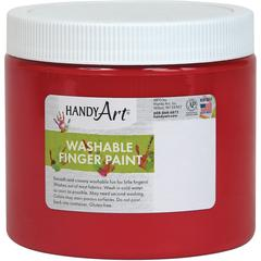 Handy Art Washable Finger Paint - 16 fl oz - 1 Each - Red
