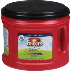 Folgers 1/2 Caff Coffee - Regular - Arabica - Medium - 25.4 oz - 6 Each