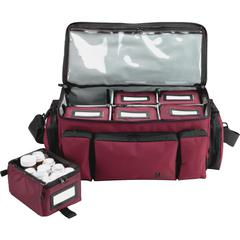 "MMF Med-Master Carrying Case for Medicine - Burgundy - Water Resistant, Light Resistant - Nylon, Polyester - Shoulder Strap, Handle - 8.5"" Height x 18.5"" Width x 9.5"" Depth"