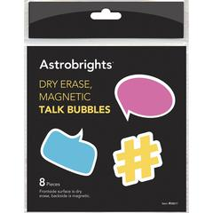 Astrobrights Dry Erase Magnetic Talk Bubbles - Theme/Subject: Learning - Skill Learning: Motivation - 8 Pieces