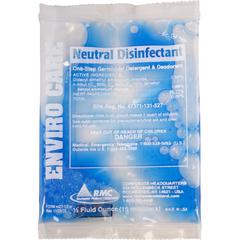 RMC Enviro Care Neutral Disinfectant - Concentrate - 0.51 fl oz - 144 / Carton - Blue