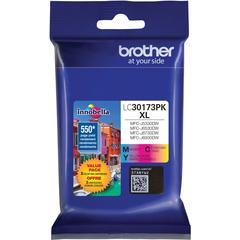 Brother LC30173PK Original Ink Cartridge - Cyan, Magenta, Yellow - Inkjet - High Yield - 550 Pages Cyan, 550 Pages Magenta, 550 Pages Yellow - 3 / Pack