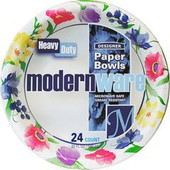"AJM Packaging Heavy Duty Paper Dinnerware - 20 fl oz 7.80"" Diameter Bowl - Paper - Disposable - White - 288 Piece(s) / Carton"