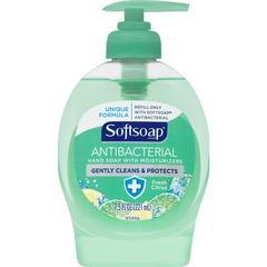 Softsoap SoftSoap Scented Hand Soap - Fresh Citrus Scent - 7.5 fl oz (221.8 mL) - Pump Bottle Dispenser - Bacteria Remover - Hand - Aqua - Moisturizing, Anti-bacterial - 12 / Carton