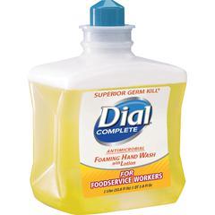 Dial Disp Refill Antimi. Foam Hand Wash - 33.8 fl oz (1000 mL) - Kill Germs - Hand - Yellow - Antimicrobial - 4 / Carton