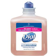 Dial Complete Antibctrl Foam Handwash Refill - 33.8 fl oz (1000 mL) - Kill Germs - Hand, Skin - Orange - Anti-bacterial, Hypoallergenic, Rich Lather - 6 / Carton