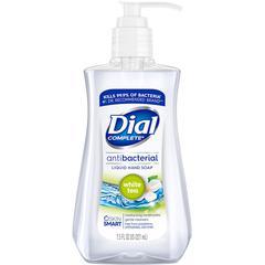 Dial White Tea Antibacterial Hand Soap - 7.5 fl oz (221.8 mL) - Pump Bottle Dispenser - Kill Germs - Hand, Skin - Clear - Moisturizing, Anti-bacterial - 1 Each