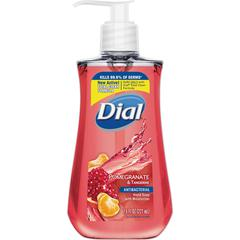Dial Pomegranate Antibacterial Hand Soap - Pomegranate Scent - 7.5 fl oz (221.8 mL) - Kill Germs - Hand, Skin - Red - Moisturizing, Anti-bacterial, Residue-free - 1 Each