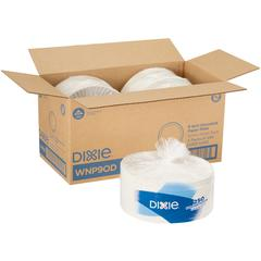 "Dixie 9"" Economy White Paper Plates - 250 / Pack - 9"" Diameter Plate - Paper - White - 1000 Piece(s) / Carton"