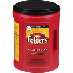 Folgers Classic Roast Ground Coffee Ground - Regular - Arabica, Robusta - Classic/Medium - 48 oz - 1 Each